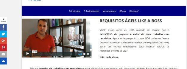 Inscrições no site da Anelox